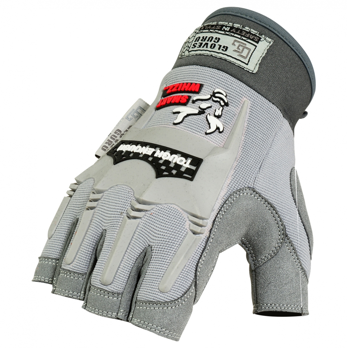 Fingerless impact gloves - Safety At Work Mechanics Gloves Article No Pe 4100 A
